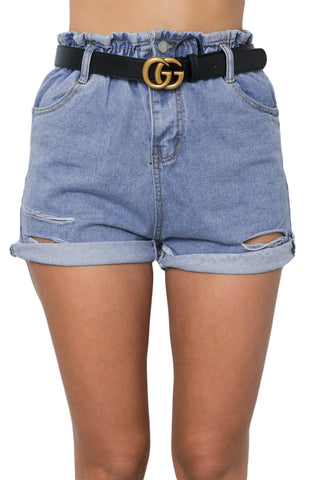 White Summer Casual Shorts