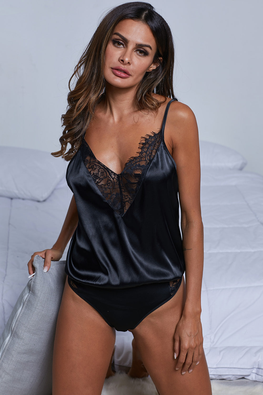 93e3457d2 Black Intimates Bodysuit – FabWoo