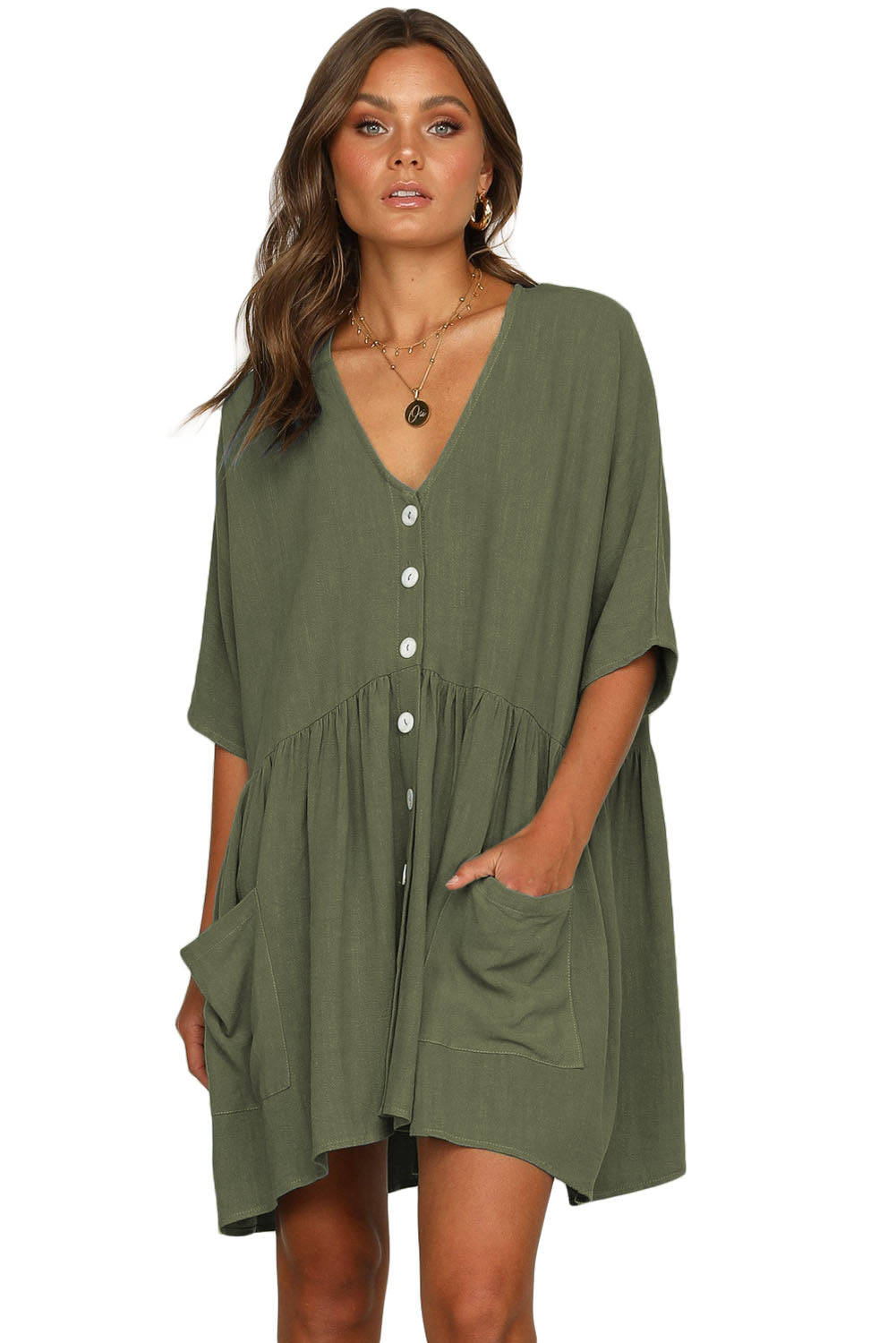Green Natural Beauty Dress