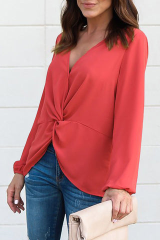 Pink Solid Shirring Off Shoulder Hollow out Top