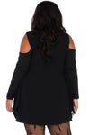 Spiderweb Plus Size Jersey Tunic Dress