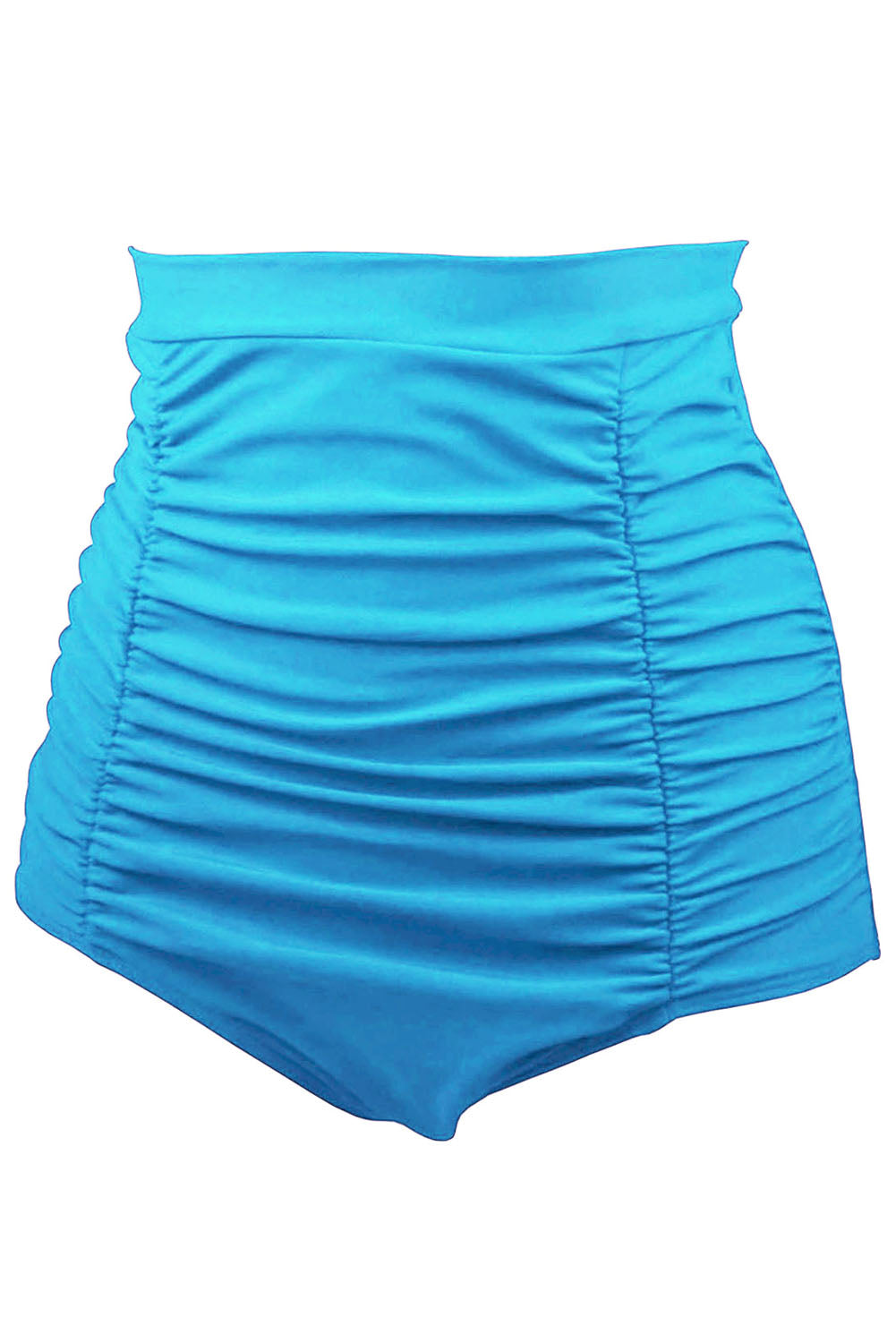 Sky Blue Retro High Waisted Swim Short