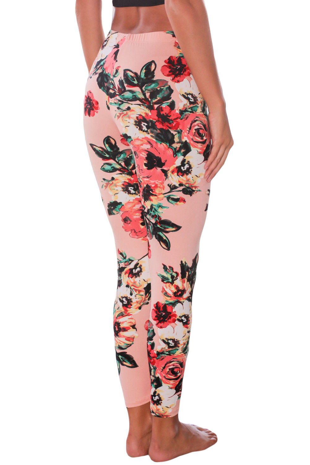 Blush Floral Stretchy Leggings