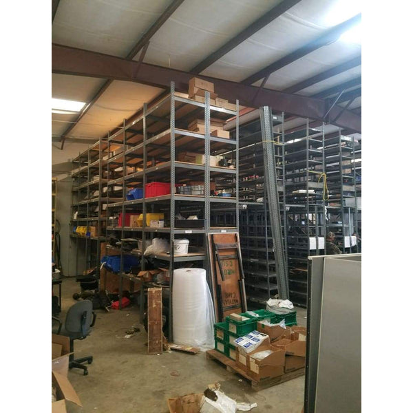 2-Level Industrial Mezzanine Shelving w/ Stairs & Shelves 25 ft x 25 ft x 16 ft 625sf