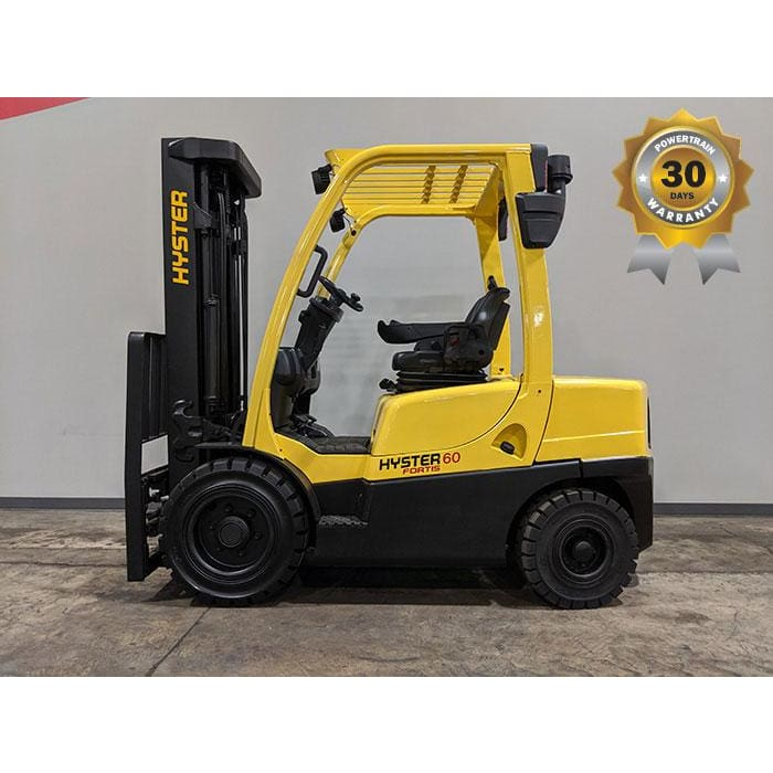 2007 Hyster H60FT 6000LBS Diesel Forklift w/ Solid Pneumatic Tires 187H - Forklifts