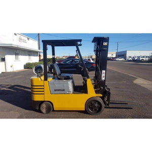 Caterpillar GC25 5000LBS LPG Forklift w/ Side Shift Cushion Tires 3 Stage Mast - Forklifts