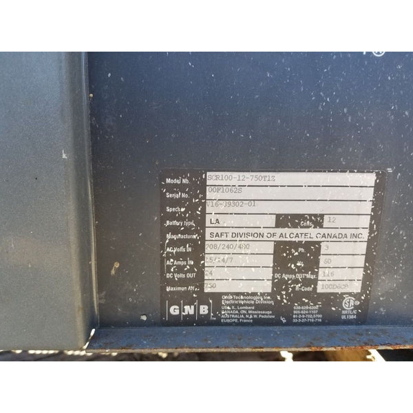 GNB SCR100-12-750T1Z 24V Industrial Battery Charger SCR 100 750 Amp Hour WE SHIP - Chargers