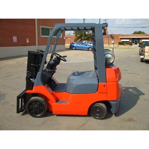 Toyota 7FGCU25 5000LBS LPG Forklift Short Mast Truck Height Side Shift - Forklifts