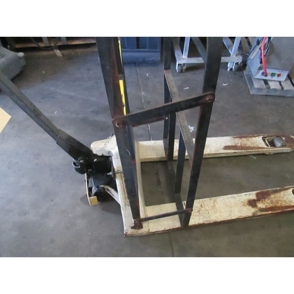 Wesco Walk Behind Pallet Jack 5500LBS Capacity w/ Safety Rack Box Guard Case - Other