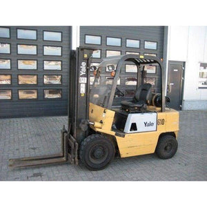 Yale GP050RB 5000lb LPG Solid Pnuematic Forklift 130H w/ SideShift - Forklifts