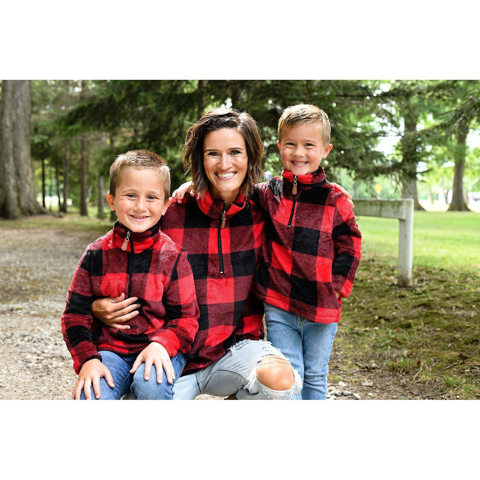 Mommy + Me Plaid Pullovers