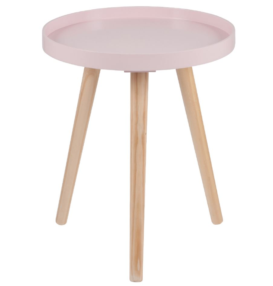 Remarkable Pink Pine Wood Mdf Round Side Table Small K D Alphanode Cool Chair Designs And Ideas Alphanodeonline