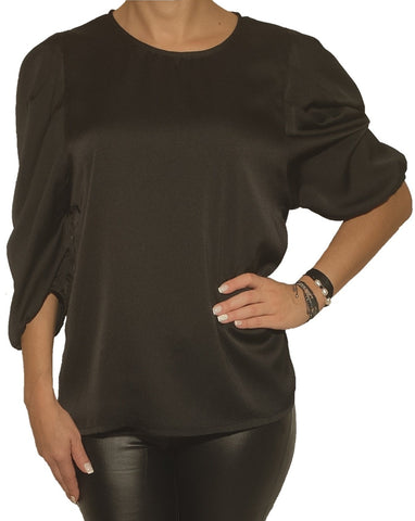 a-woman-wears-a-black-blouse-front-side