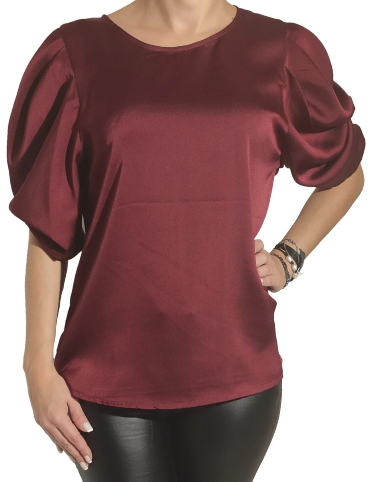 a-woman-wears-a-bordeaux-blouse-front-side