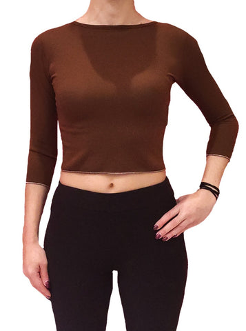 a-girl-wears-a-brown-blouse-with-longsleeves-front-side