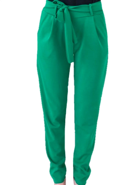 model-wears-a-green-trouser-with-bow-white-background