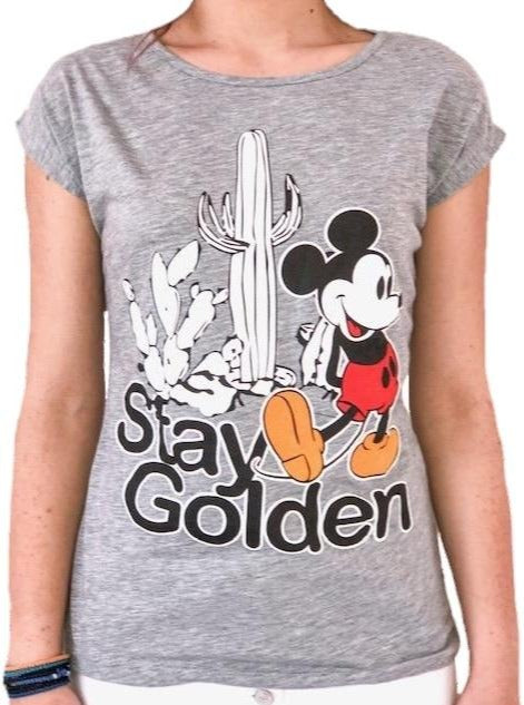 woman-wears-grey-tshirt-with-mickey-mouse-stamp
