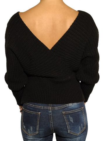 a-girl-wears-a-black-krouaze-blouse-back-side