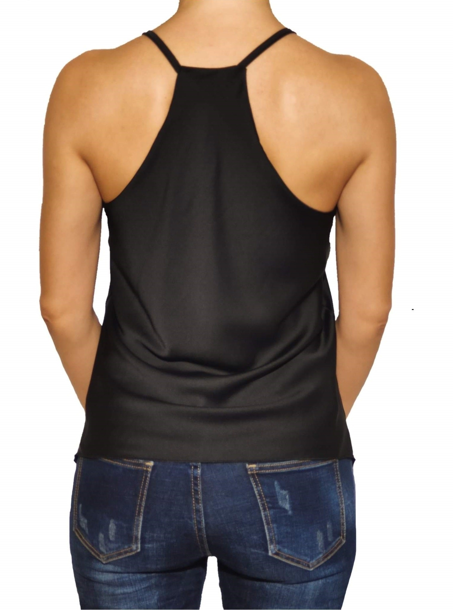 woman-wears-sleeveless-top-black-backside