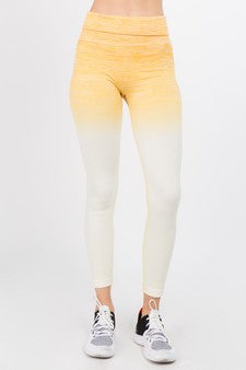 Yellow Premium Ombre Leggings