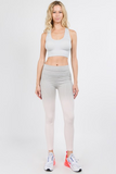 Grey/Light Pink Premium Ombre Leggings