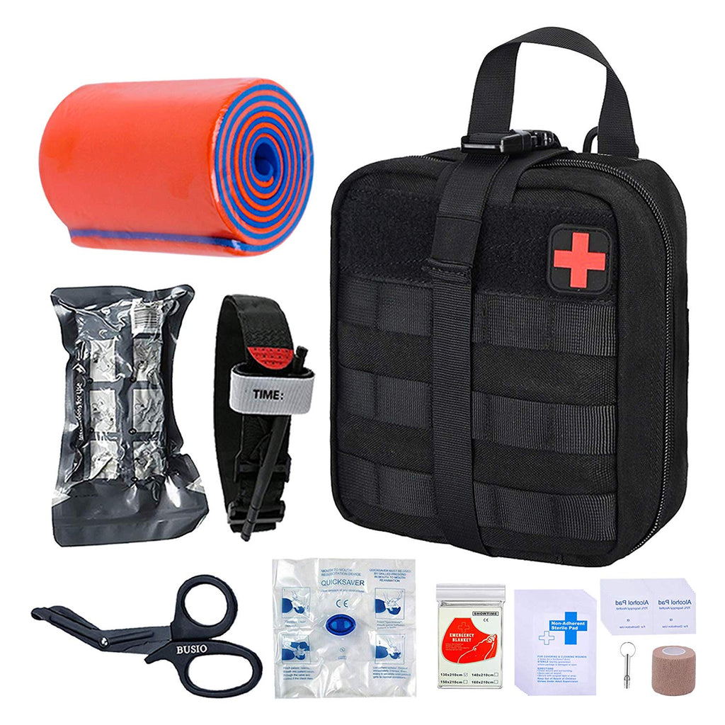 TOUROAM Tactical Emergency First Aid Kit | MOLLE Admin Pouch  EMT Survival Trauma Kit