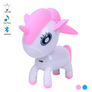Unicorn Bluetooth Speaker for Kids | Cute LED Night Light Musical Player | Bedside Mood Light