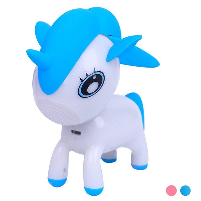 Qaraqy Unicorn Bluetooth Speaker for Kids | Cute LED Night Light Musical Player | Bedside Mood Light