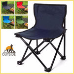 Outdoor Fishing Chair | Camouflage Foldable Chair Camping Hiking Chair Beach Picnic Rest Seat Stool 33 x 33 x 57cm
