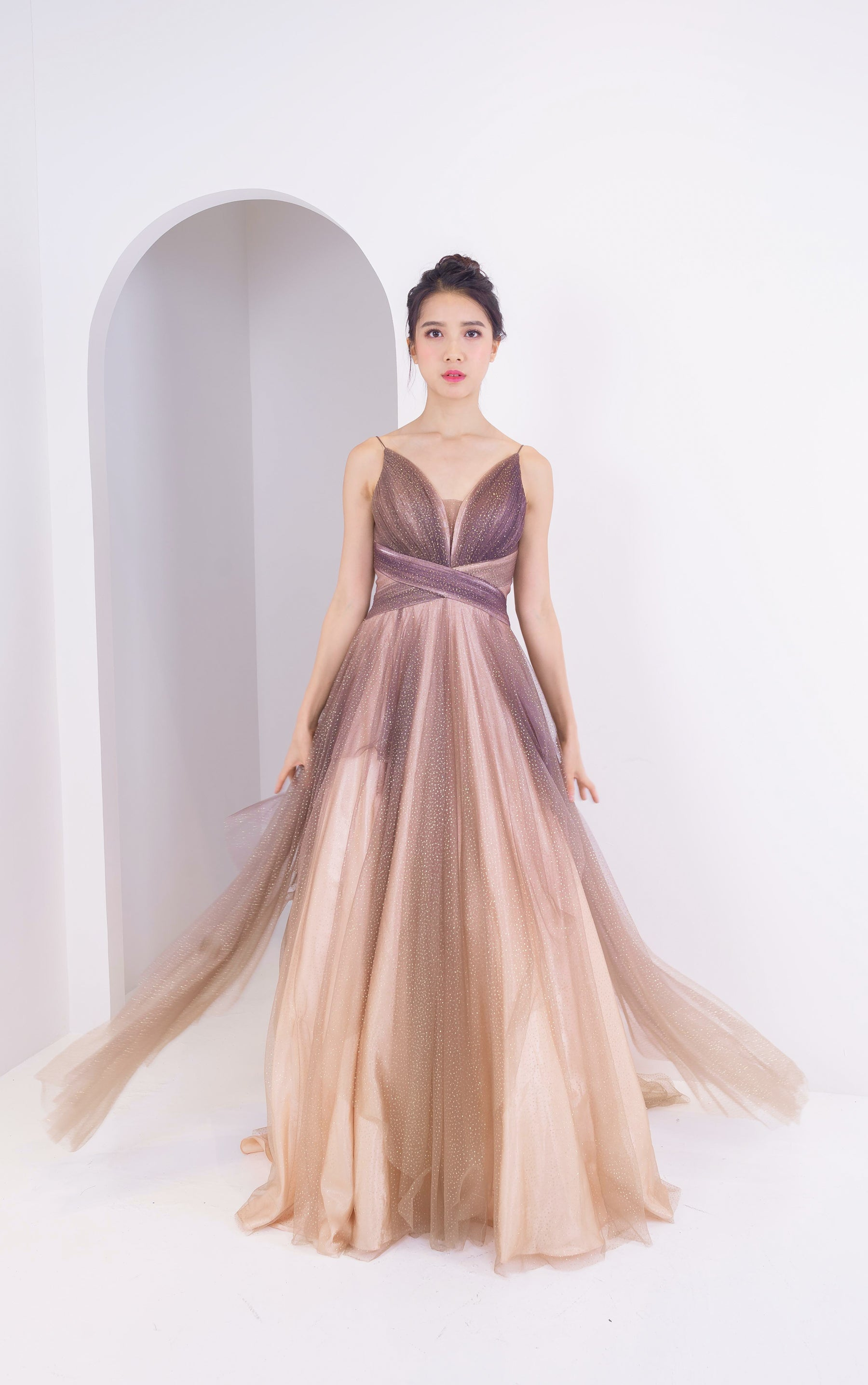 Sienna Stardust Cafe Brown Gown