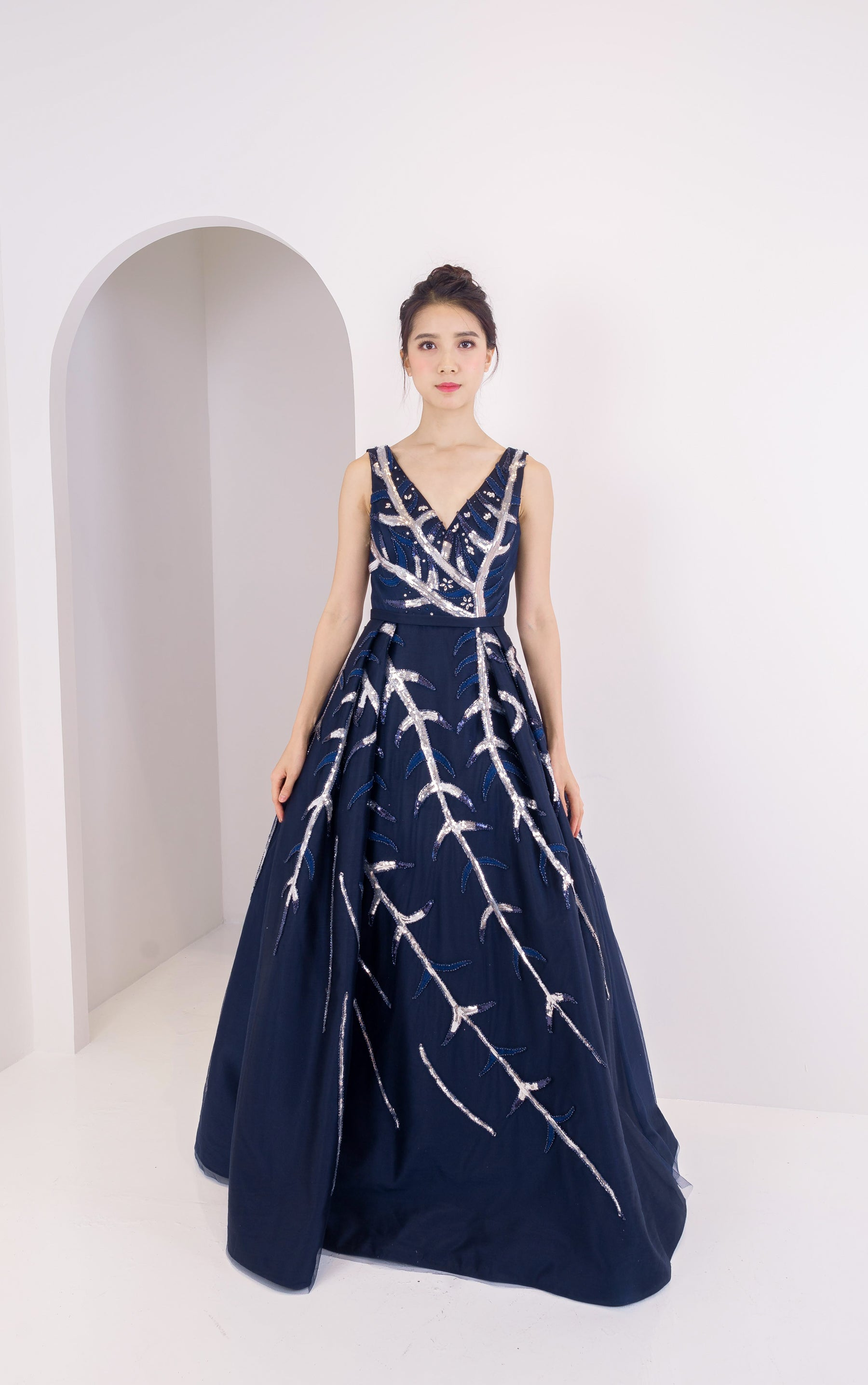 Midnight Skylight Navy Gown