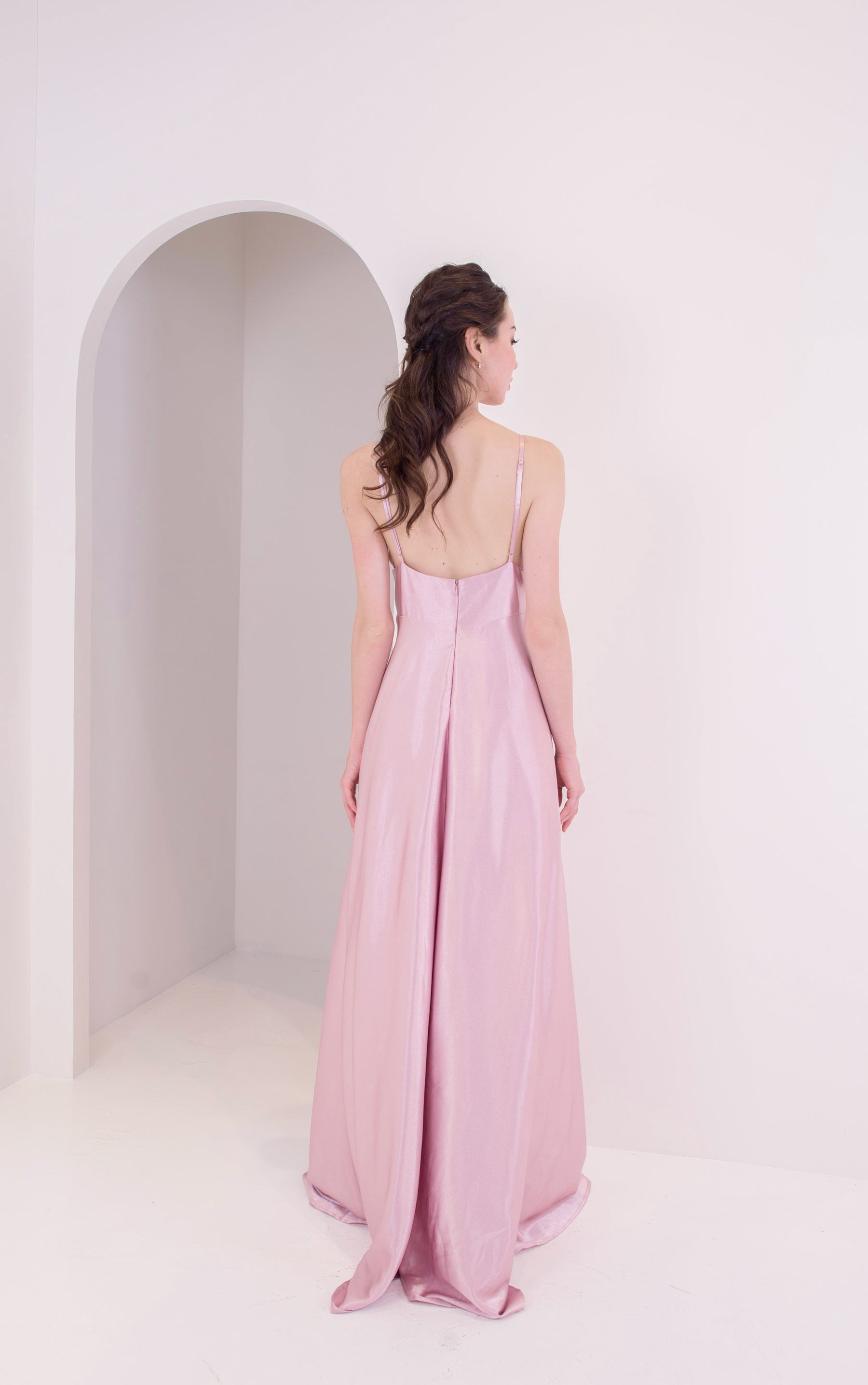 Lite Dusty Pink Silk Gown