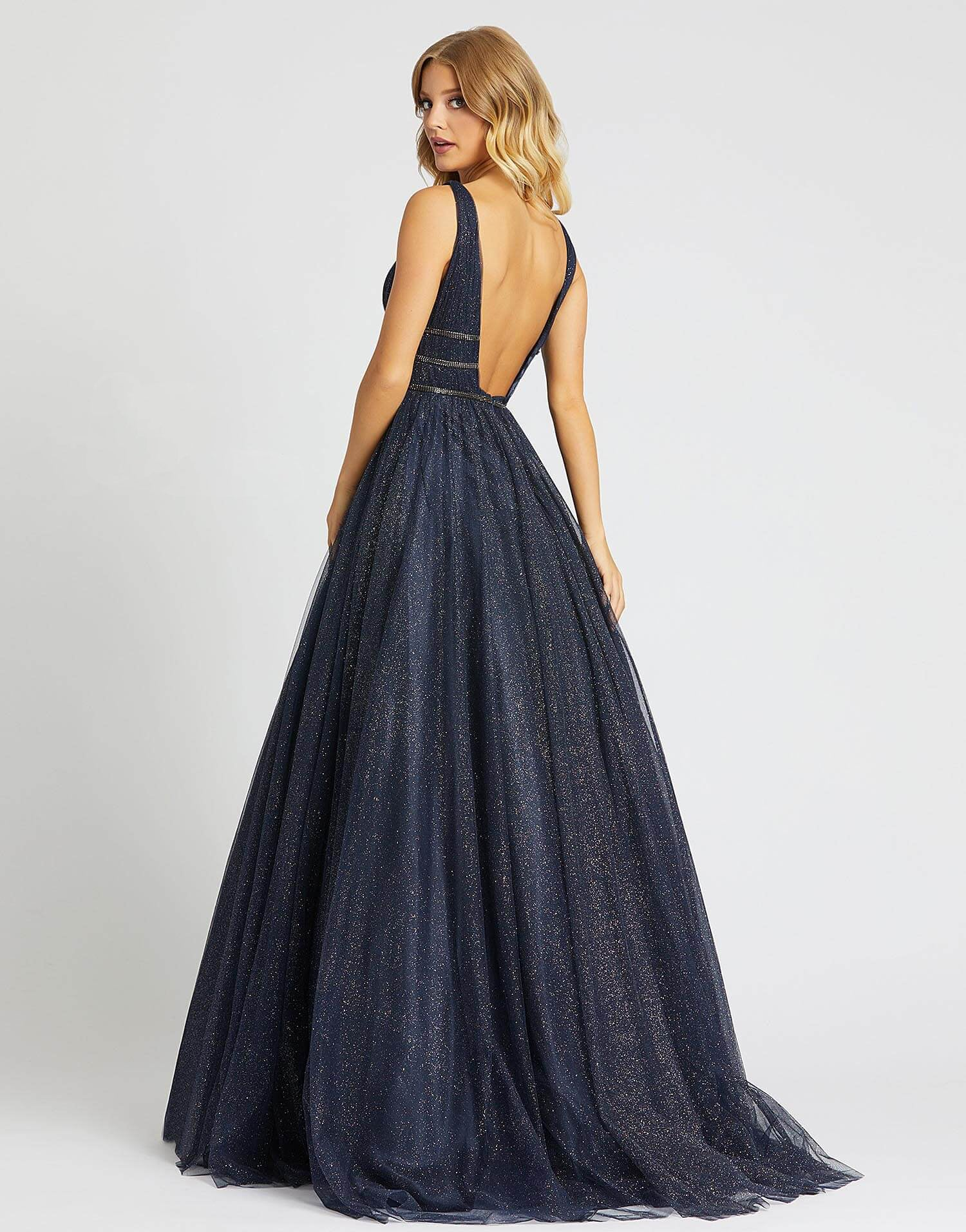 MD Galaxy Night Navy Gown