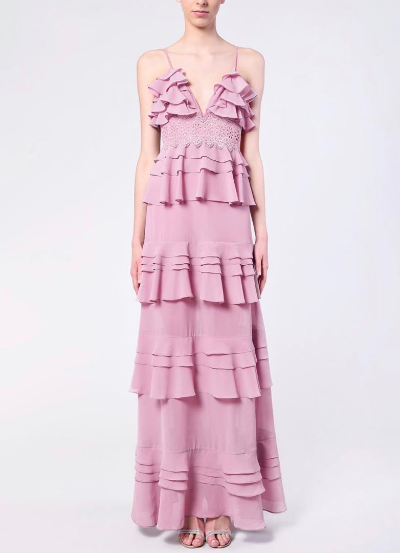 Josie Ruffles Lilac Dress