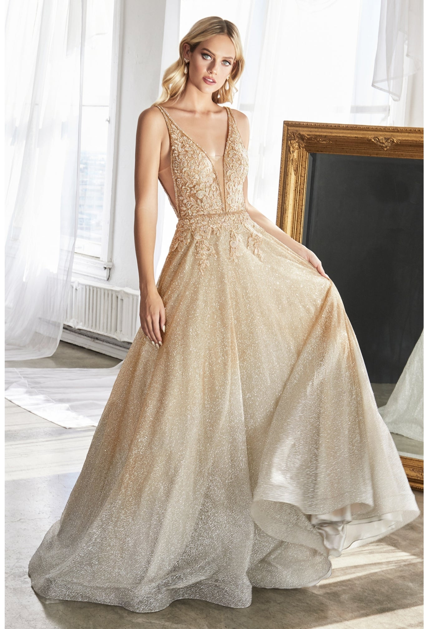 CD Blossom Gold Gown