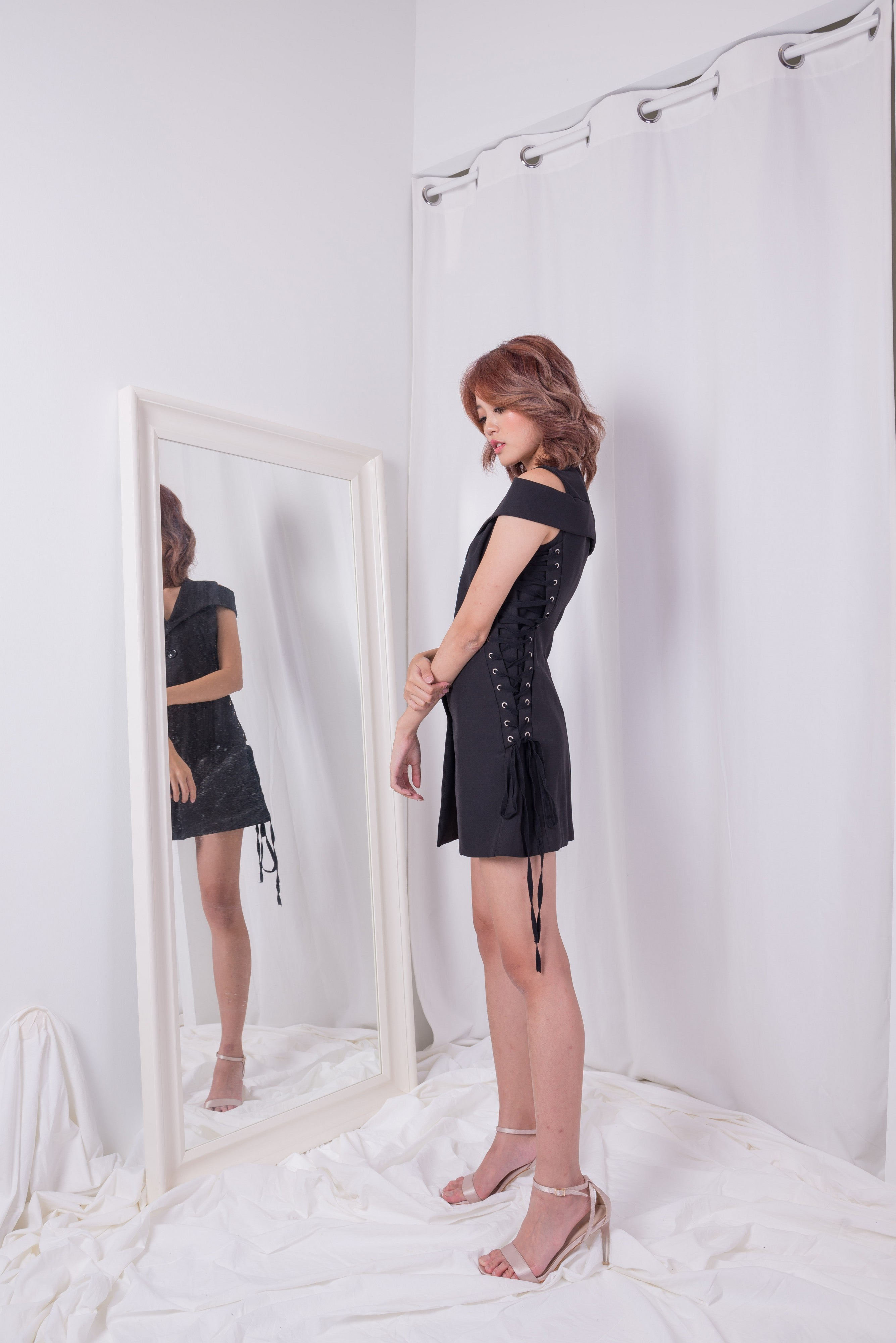 Moi Tie Black Dress