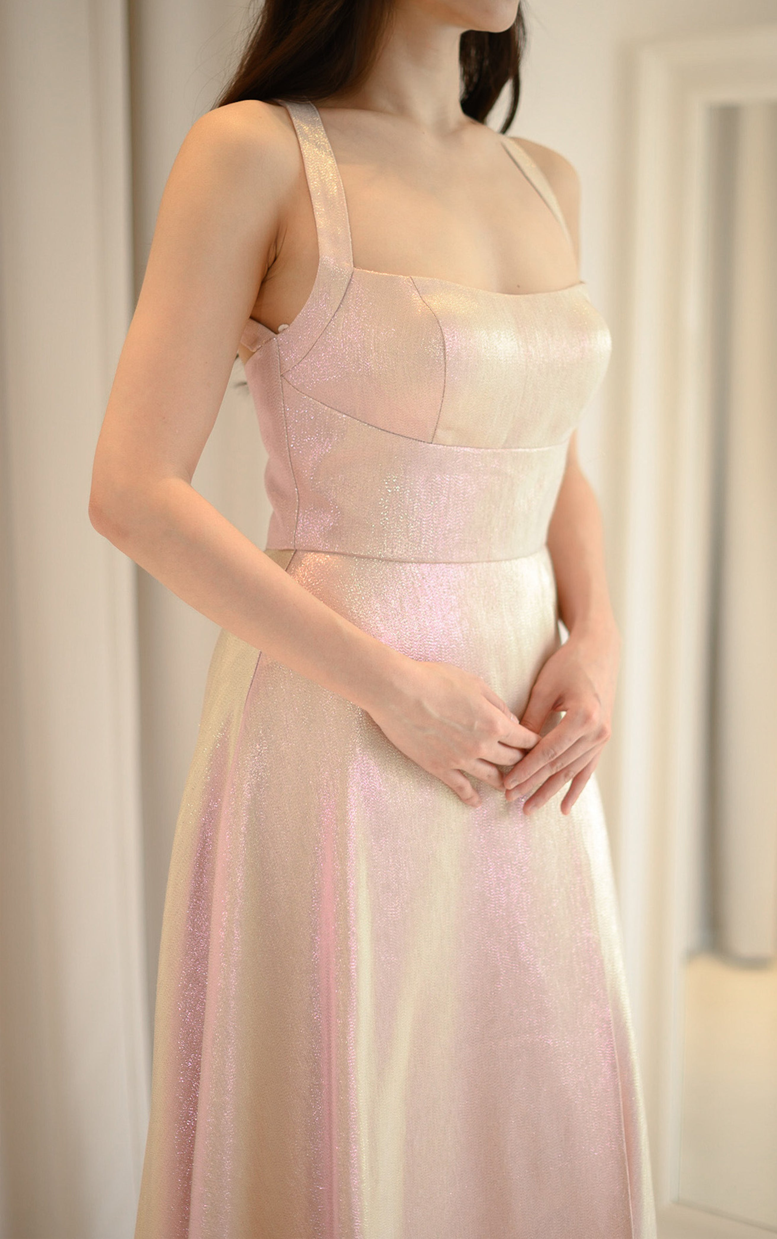 Elegance of Blush Stardust Gown