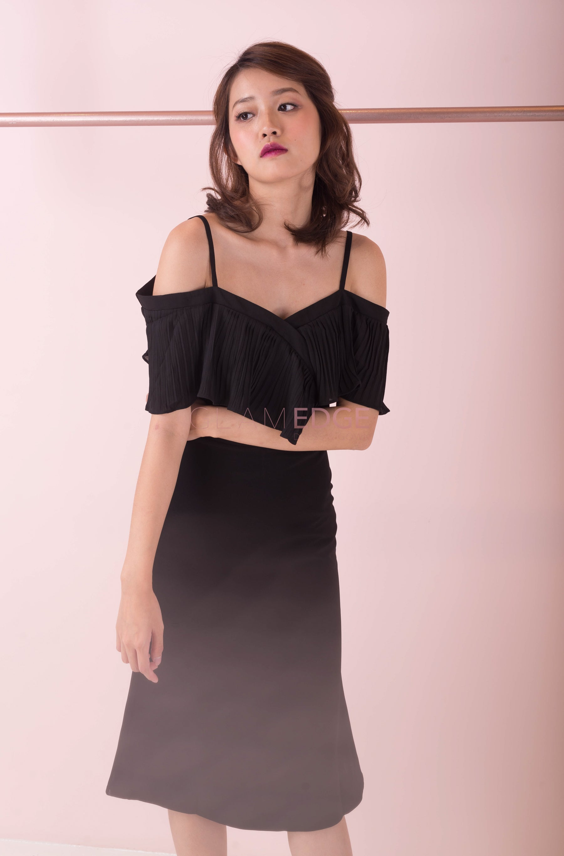 V Off-Shoulder Dress