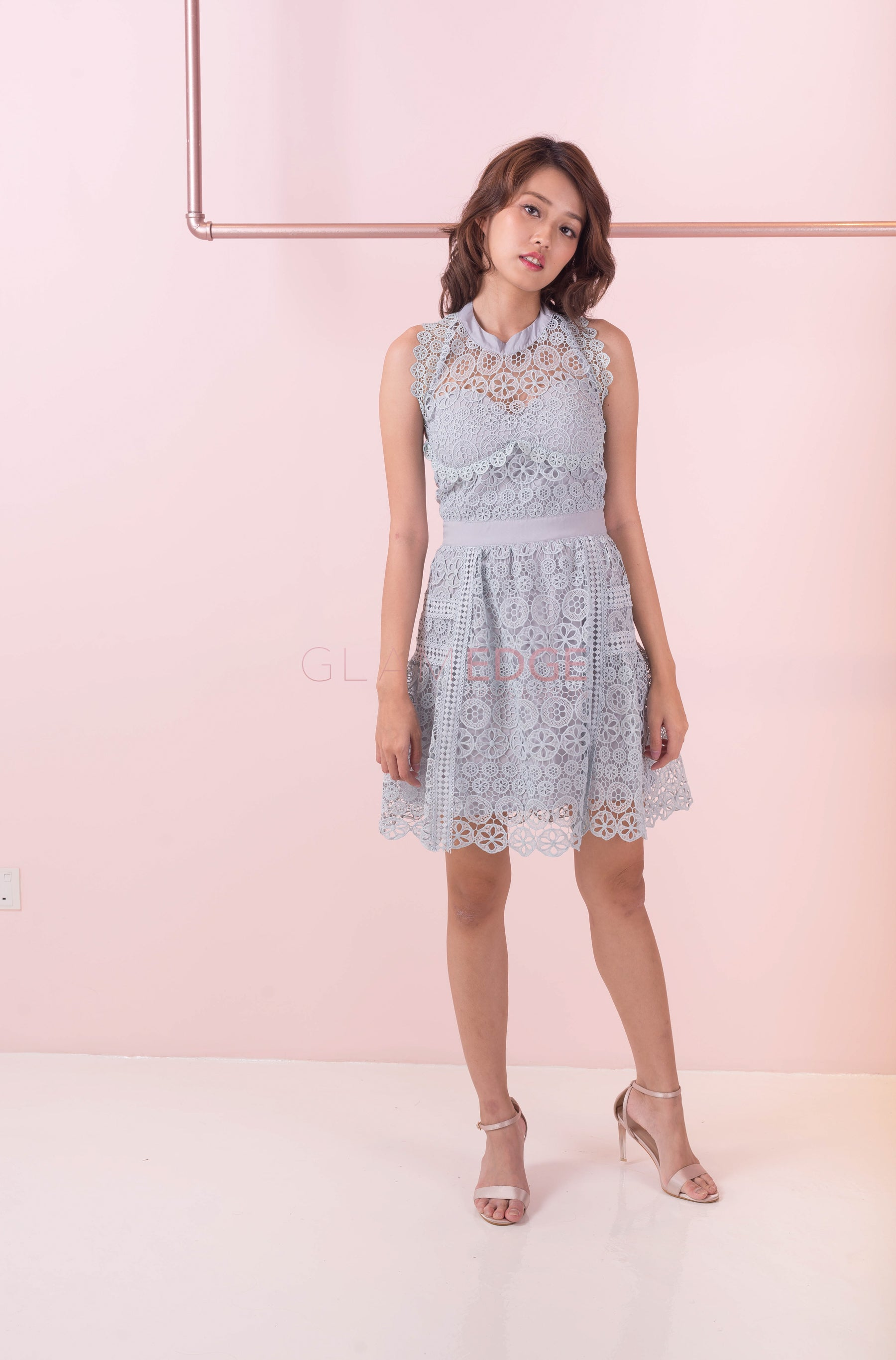 *LAST PIECE* Little Blue Lace Dress