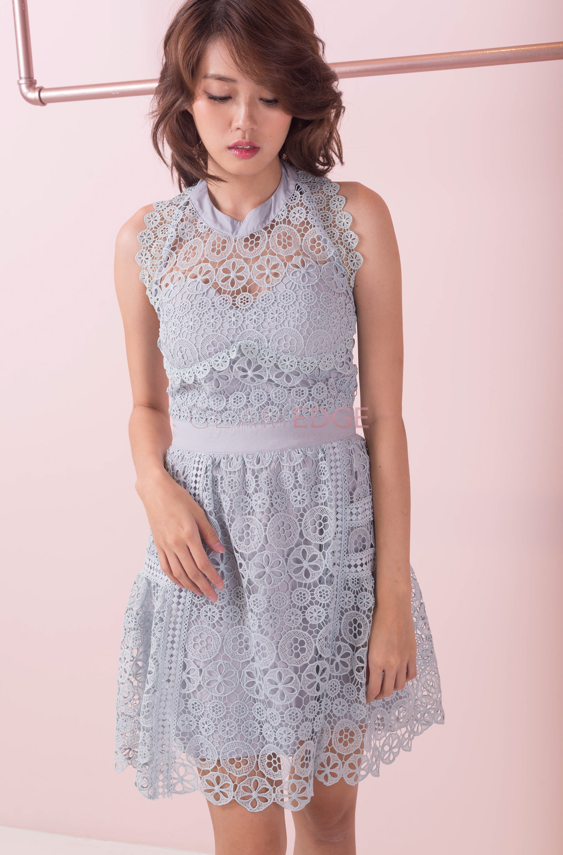 Little Blue Lace Dress