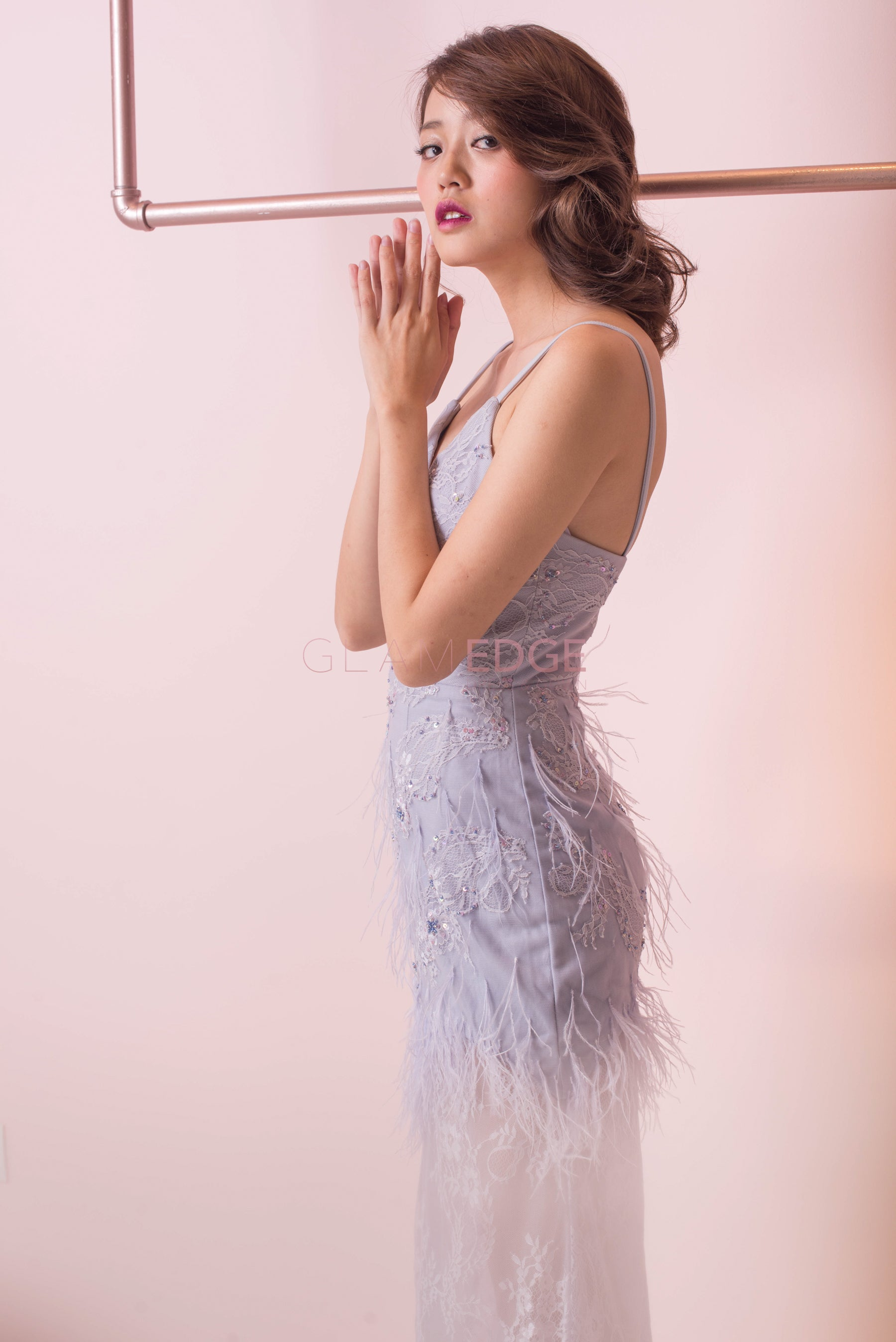 Misty Lilac Furry Dress