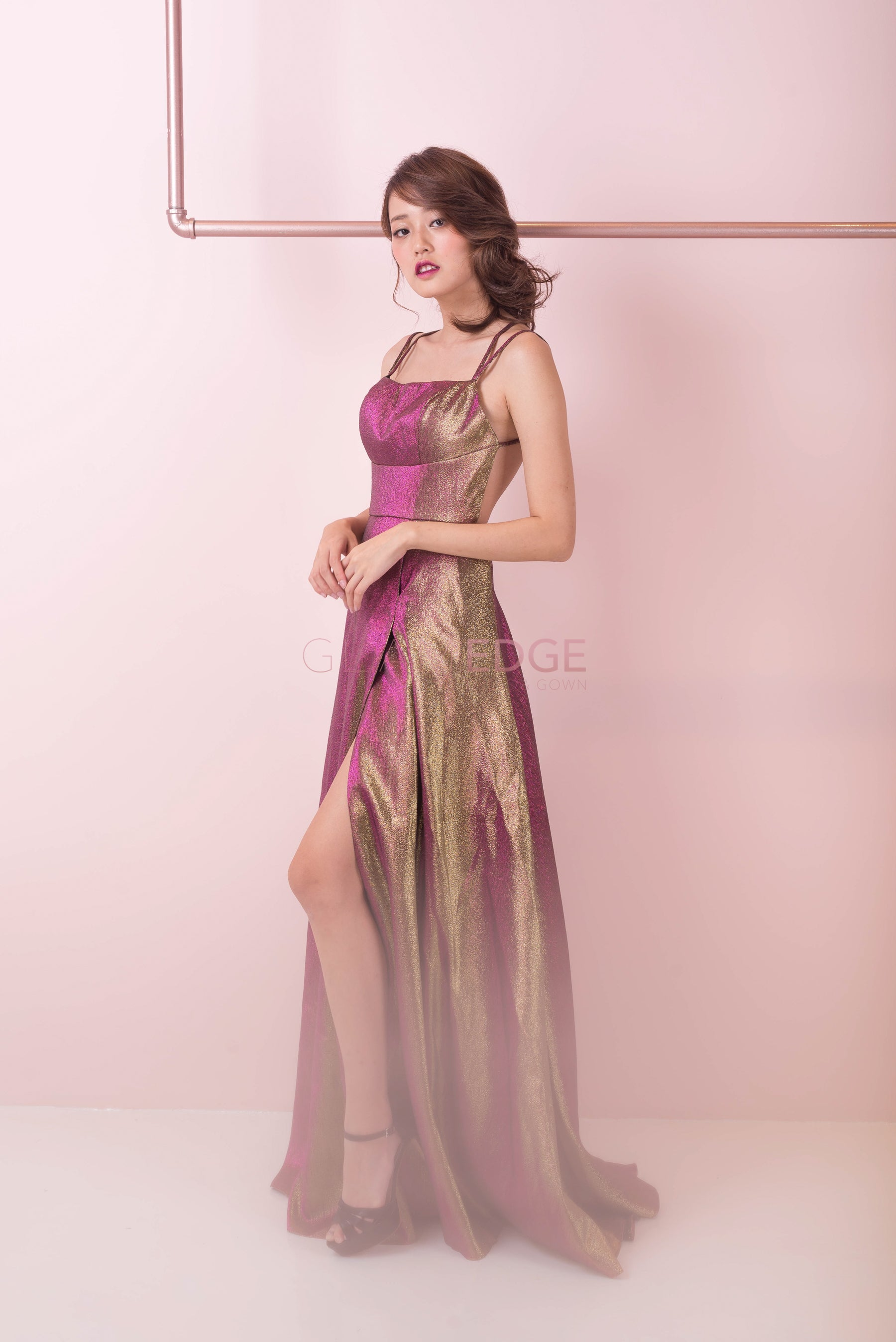Sherri Pink Gold Dress
