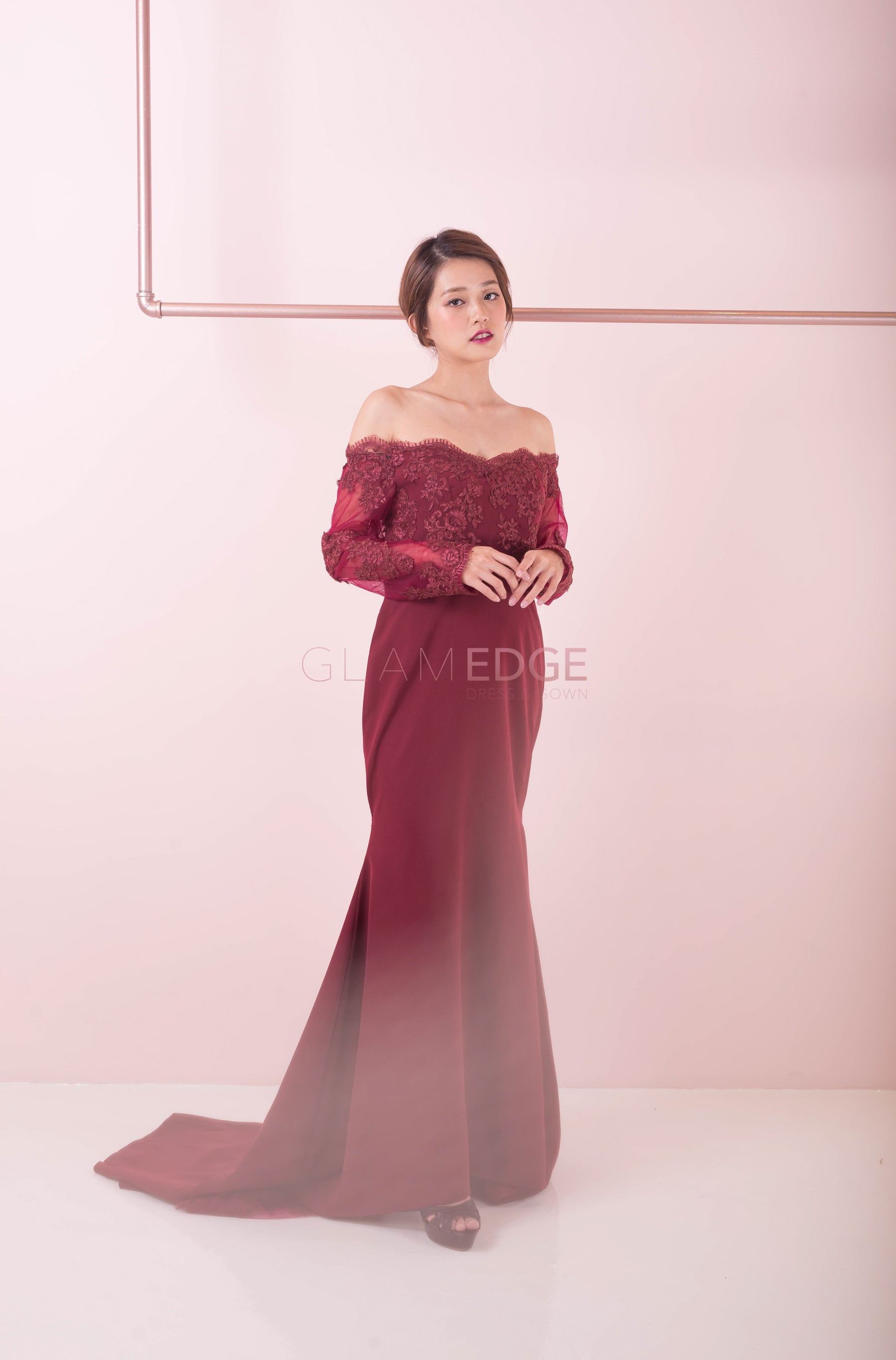 Lite Burgundy Night Gown (Sale)