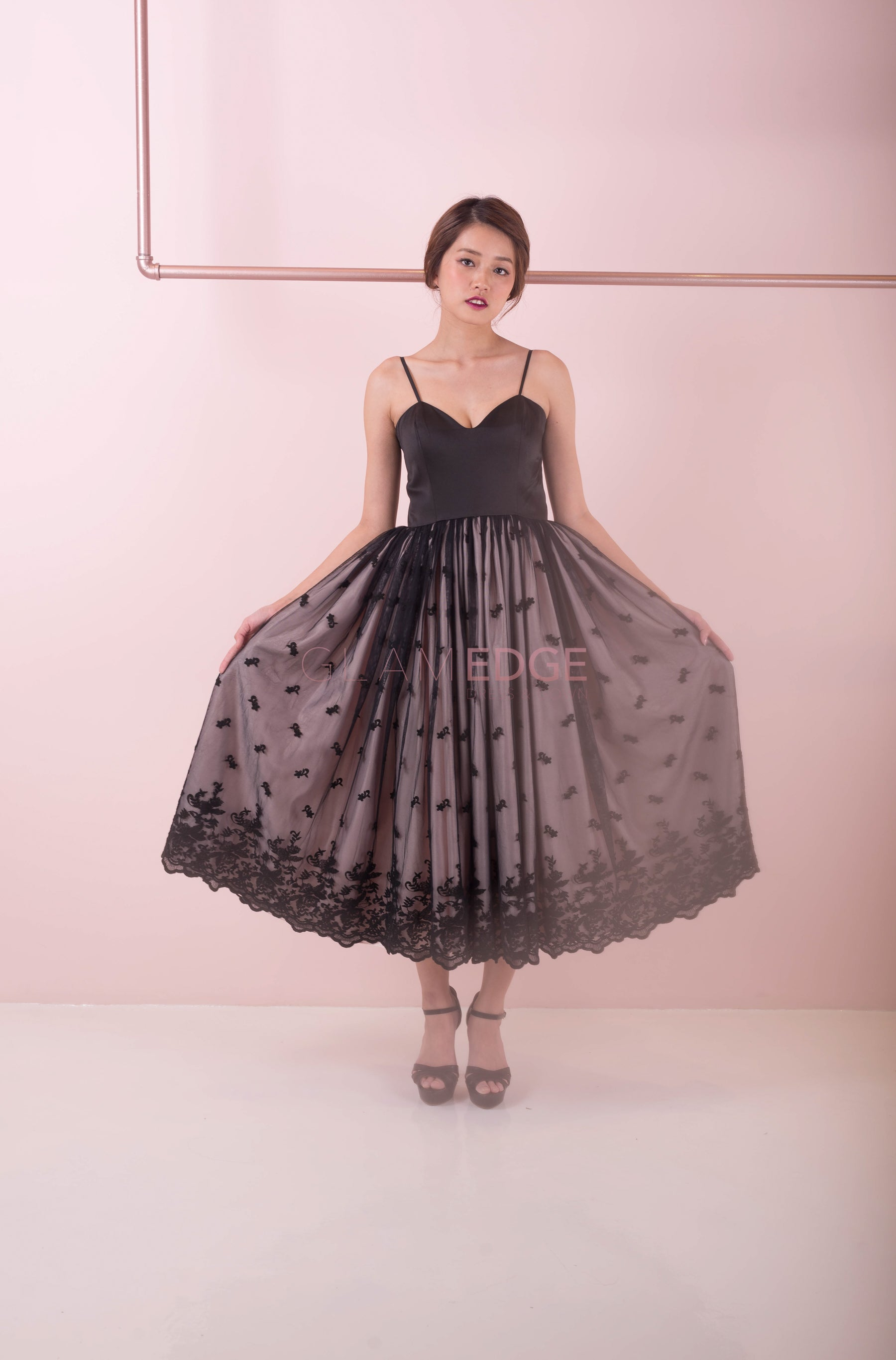 Lite Black Swan Puff Dress (Sale)