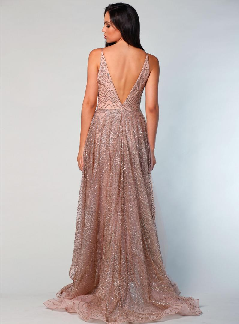 H Abigail Rose Gold Gown