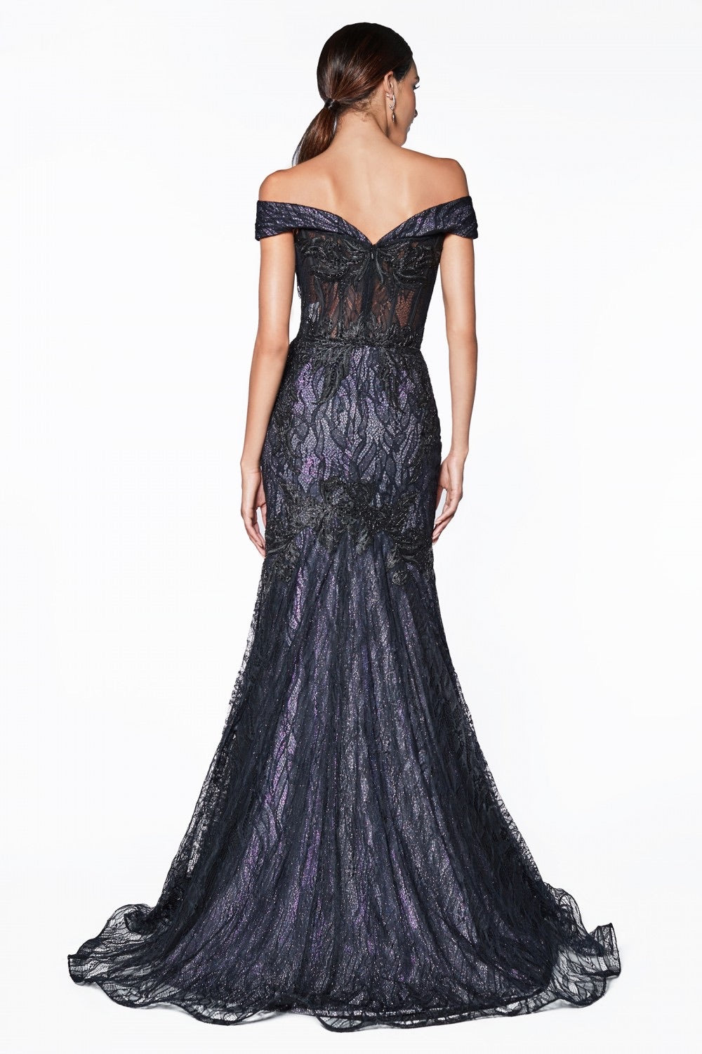 CD Rosie Dark Lace Corset Gown