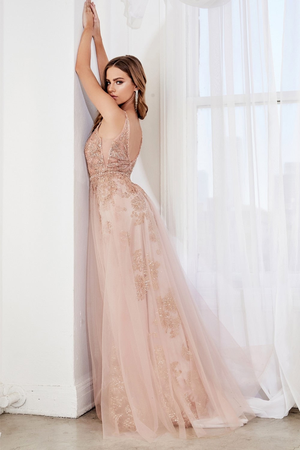CD Angelica Rose Gold Gown