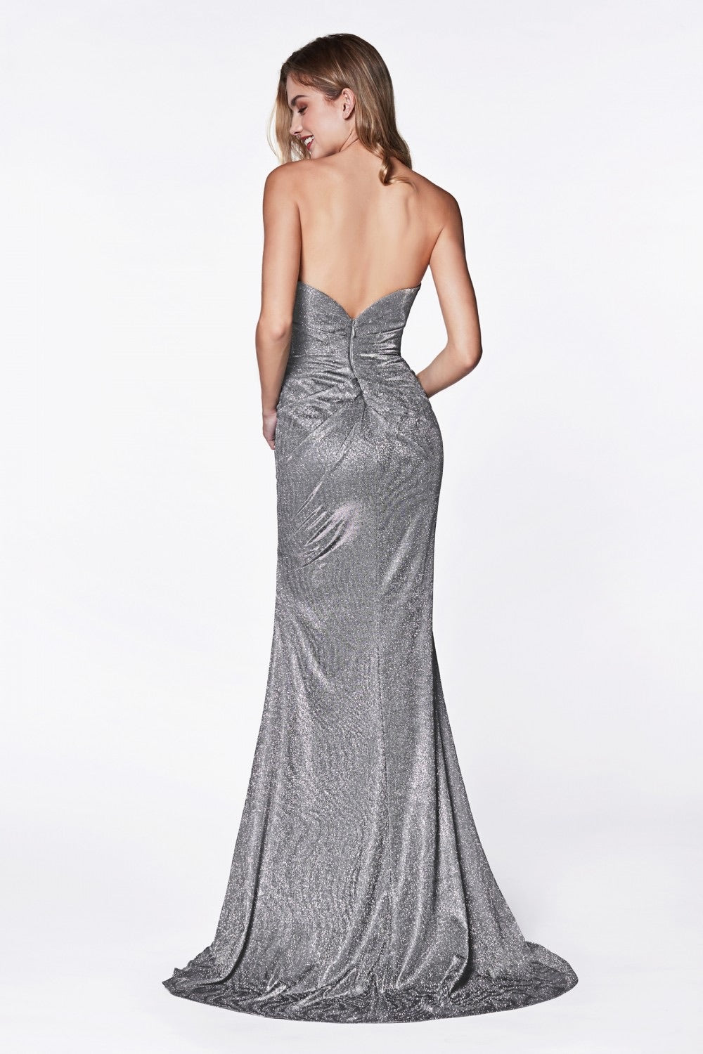 CD Hugo Sweetheart Grey Glitz Gown
