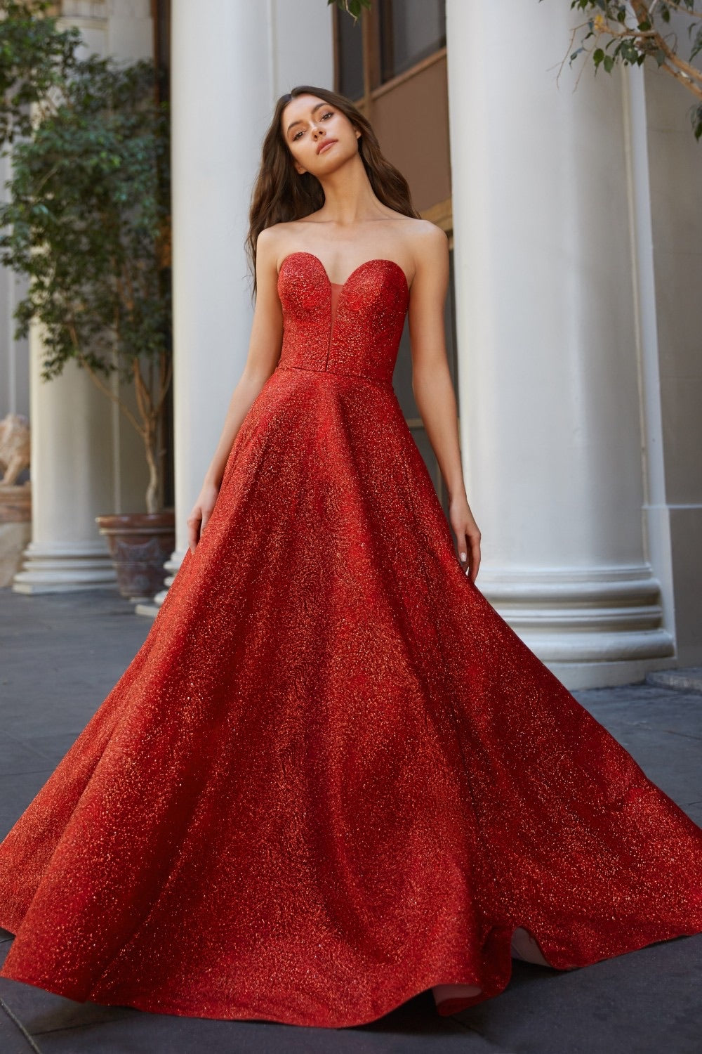 CD Cinderella Sweetheart Red Ballgown