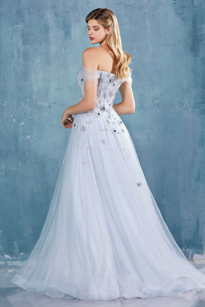 AL Starry Baby Blue Gown